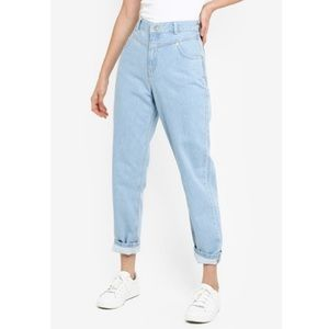 UO BDG Mom Jeans High Waist Seam Light Blue